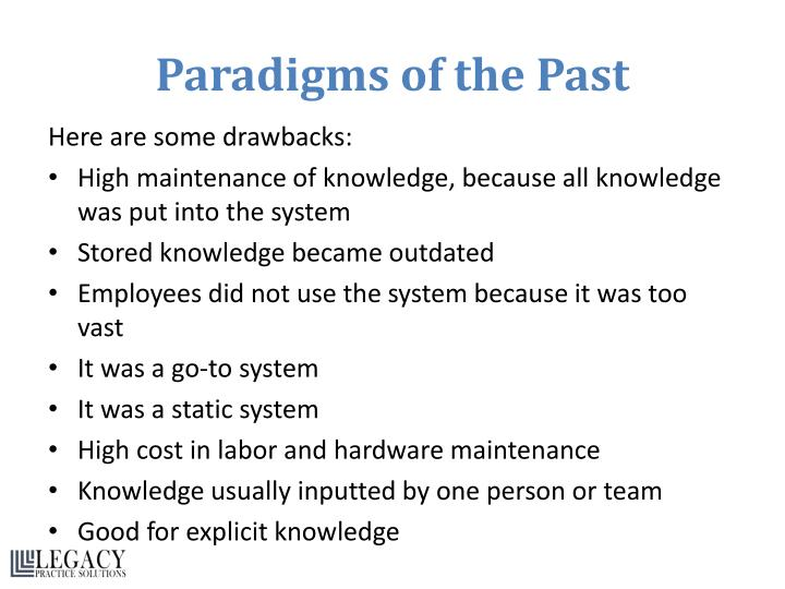 Paradigms of the Past