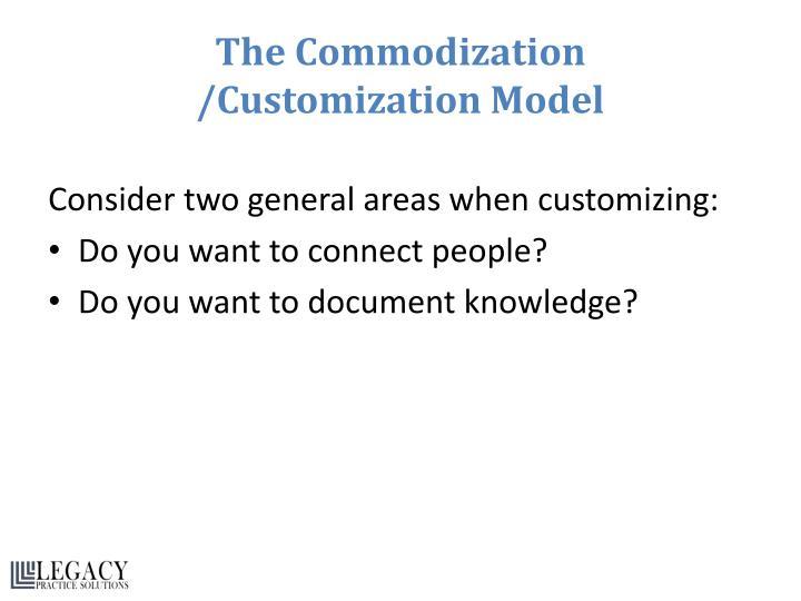 The Commodization