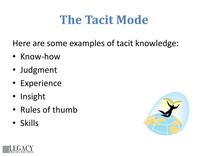 The Tacit Mode