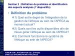 section 2 d finition du probl me et identification des aspects analys s 7 dispositifs