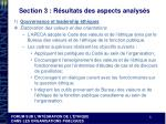 section 3 r sultats des aspects analys s