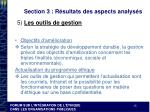 section 3 r sultats des aspects analys s9