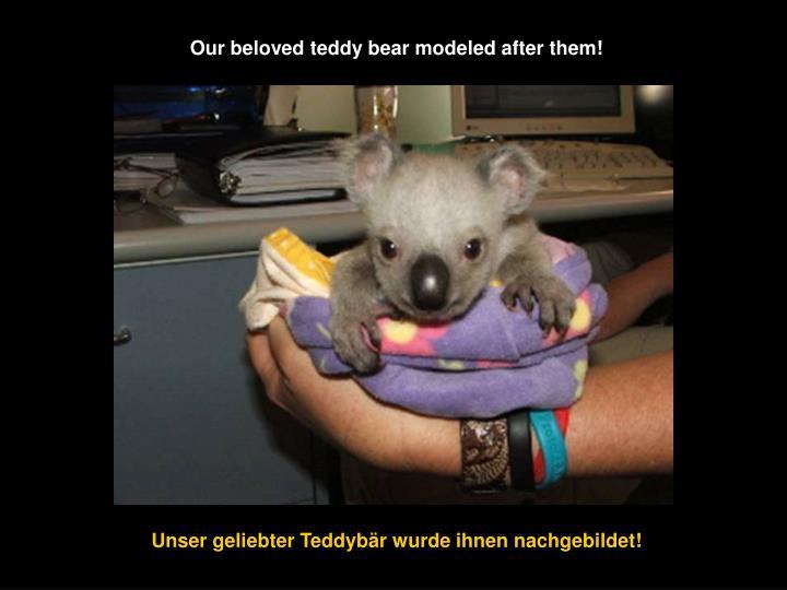 Our beloved teddy bear modeled after them!