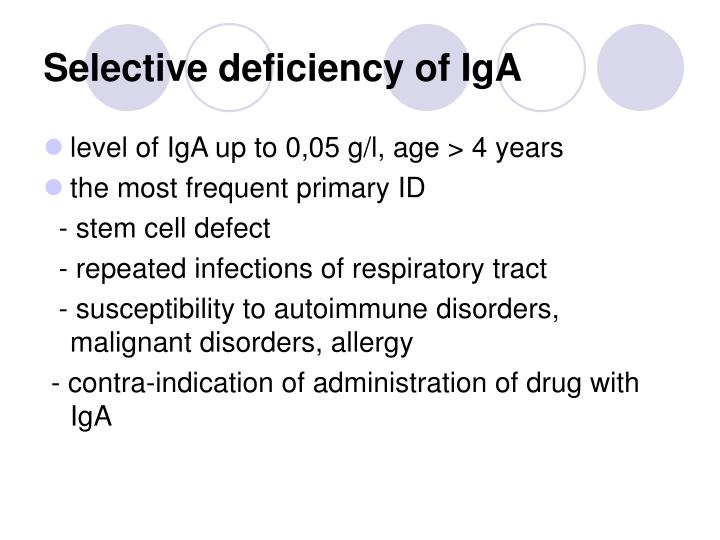 Selective deficiency of IgA