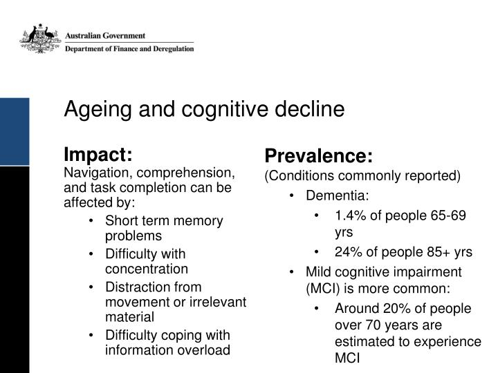Ageing and cognitive decline