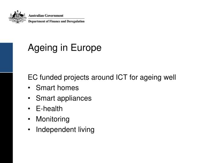 Ageing in Europe