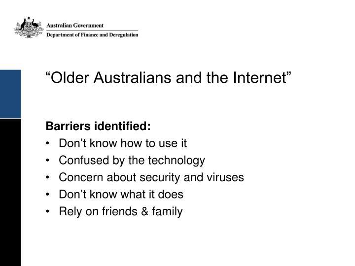 """Older Australians and the Internet"""
