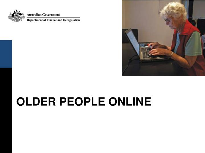 Older people online