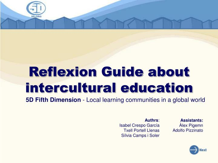 reflexion guide about intercultural education n.
