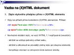vazba na x html dokument1