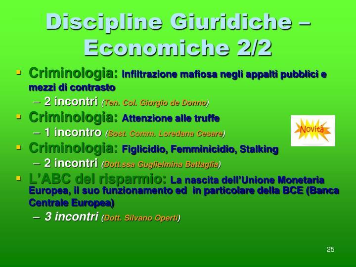 Discipline Giuridiche – Economiche 2/2