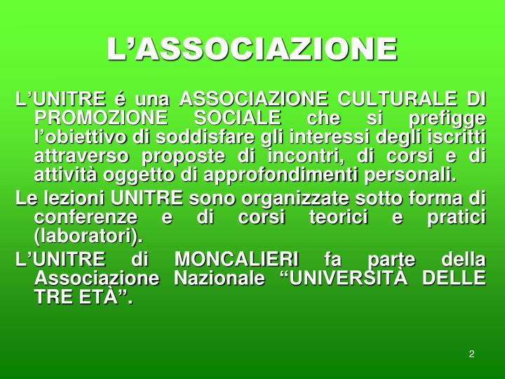 L associazione