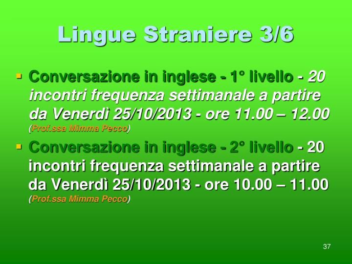 Lingue Straniere 3/6