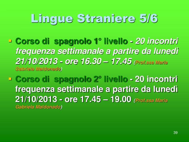 Lingue Straniere 5/6