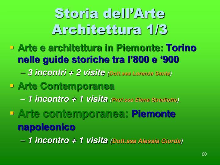 Storia dell'Arte Architettura 1/3
