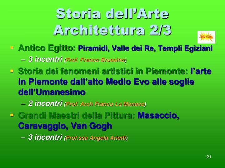 Storia dell'Arte Architettura 2/3