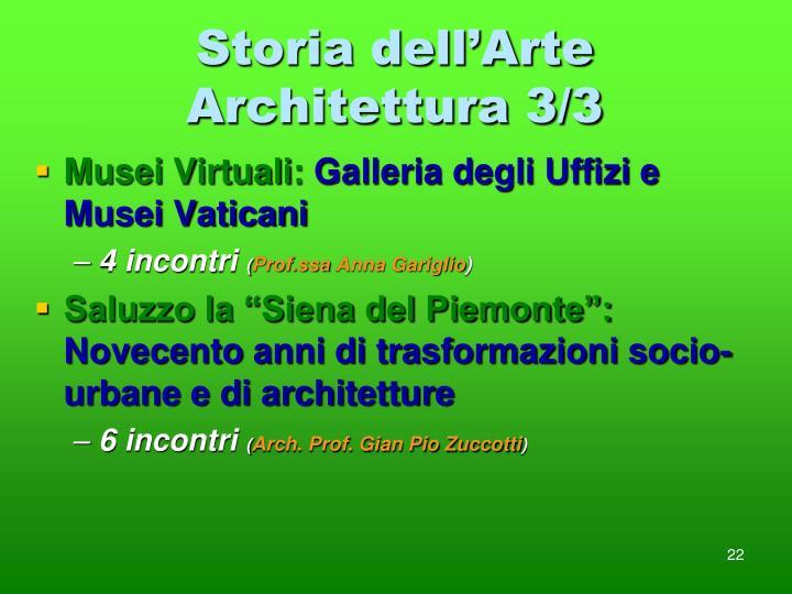 Storia dell'Arte Architettura 3/3