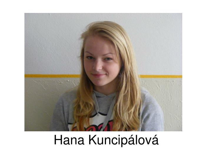 Hana Kuncipálová