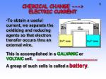 chemical change electric current1