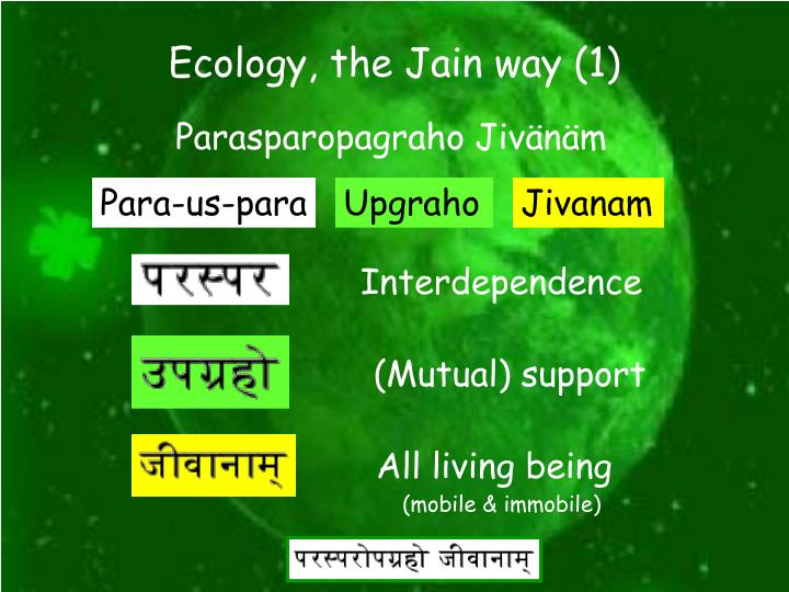 Ecology, the Jain way (1)