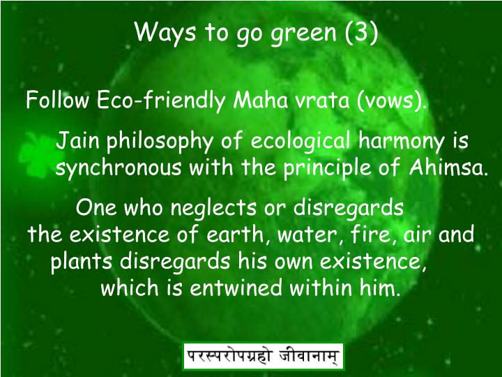 Ways to go green (3)