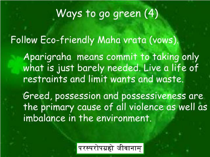 Ways to go green (4)