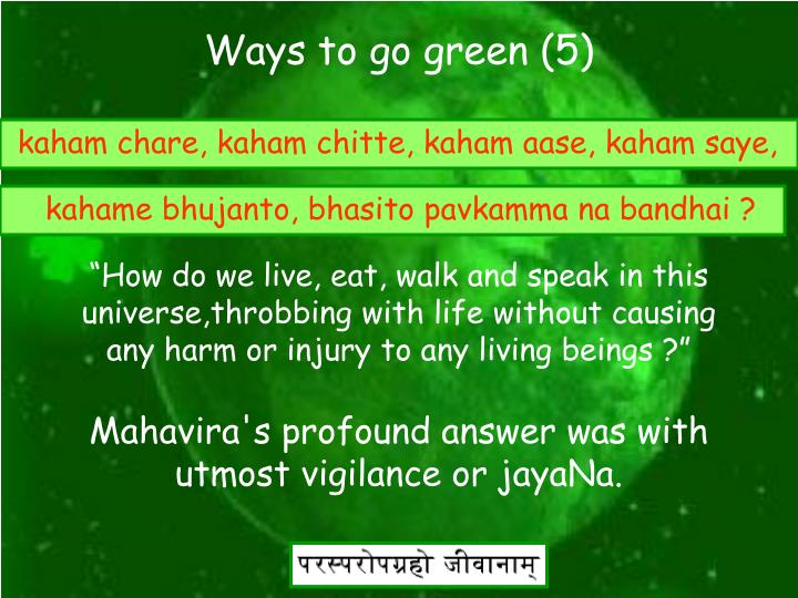Ways to go green (5)