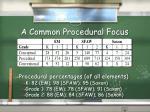 a common procedural focus