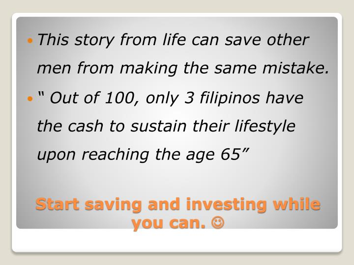 This story from life can save other men from making the same mistake.