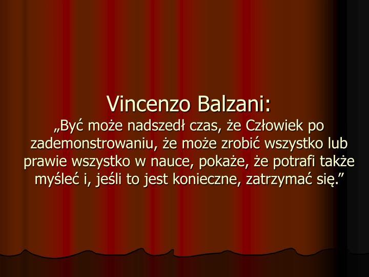 Vincenzo Balzani: