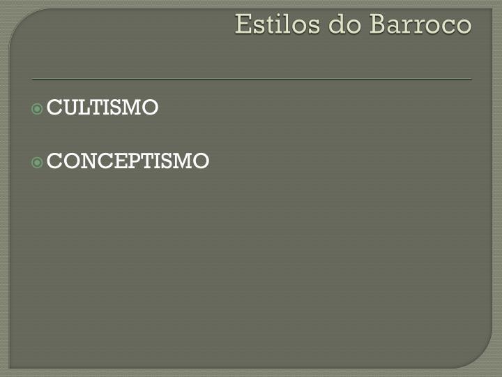 Estilos do Barroco