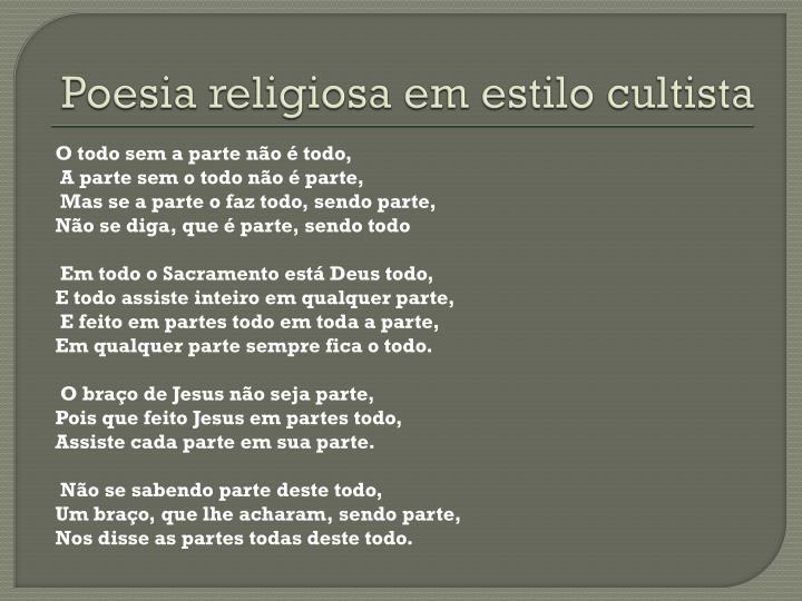 Poesia religiosa em estilo cultista
