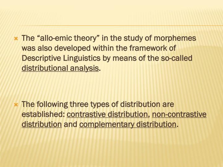 descriptive linguistics