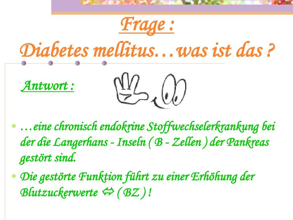 Diabetes mellitus fragen