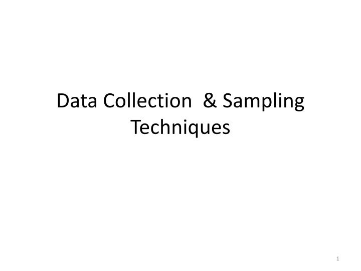 data collection sampling techniques n.