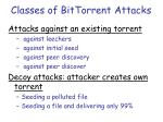 classes of bittorrent attacks