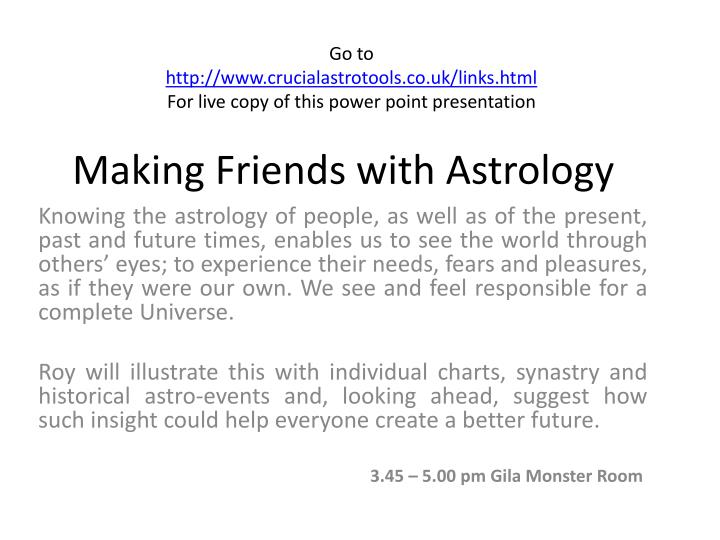 making friends with astrology n.
