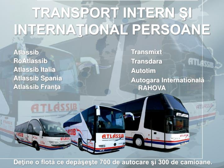 Transport intern i interna ional persoane