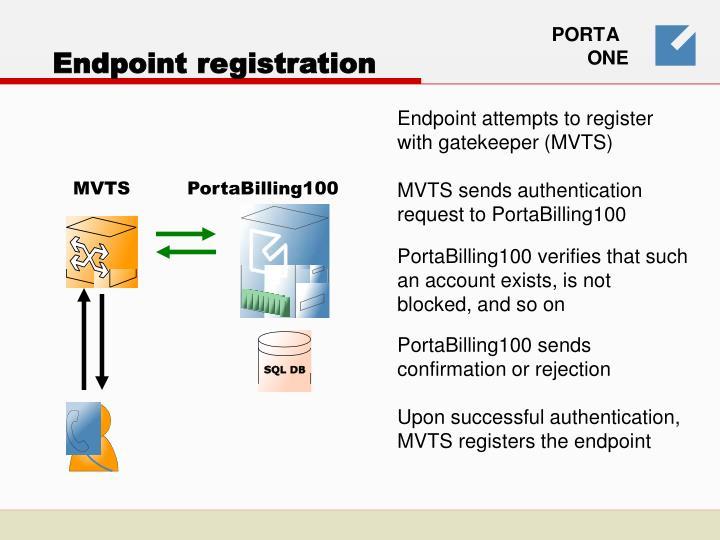 Endpoint registration