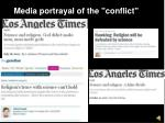 media portrayal of the conflict
