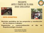 reciarte arte y parte de tu vida 2010 2011 20127