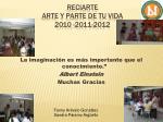 reciarte arte y parte de tu vida 2010 2011 20128