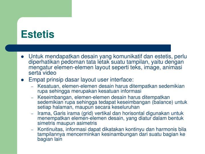 Estetis
