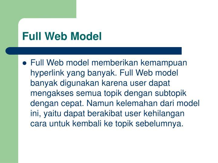 Full Web Model