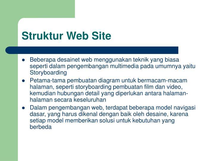 Struktur Web Site