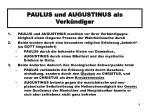 paulus und augustinus als verk ndiger