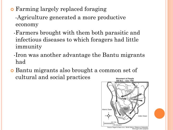 Farming largely replaced foraging