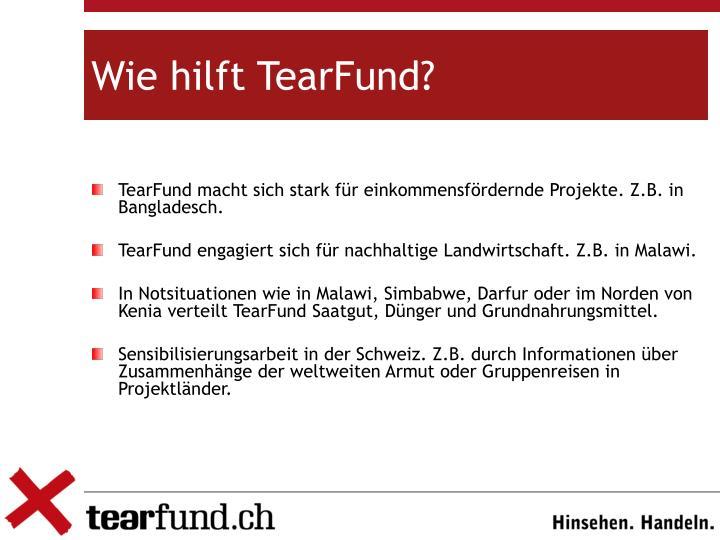 Wie hilft TearFund?