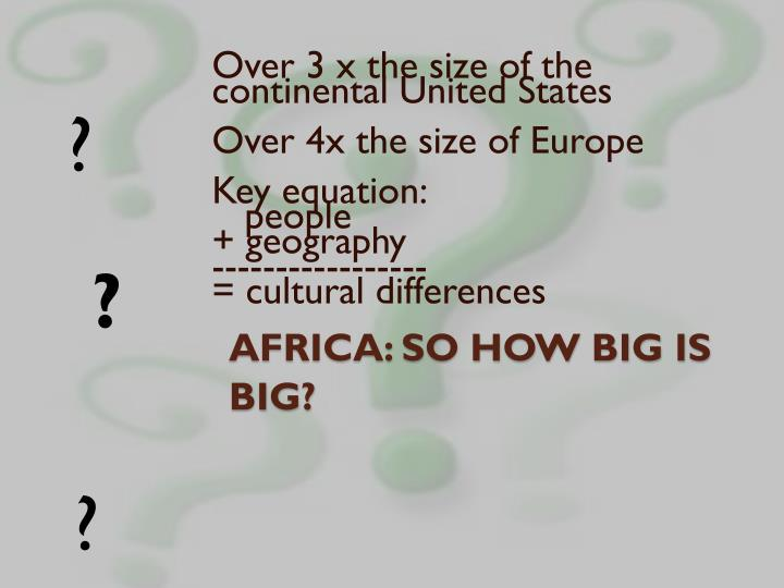 Africa so how big is big
