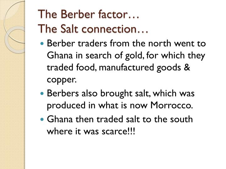 The Berber factor…
